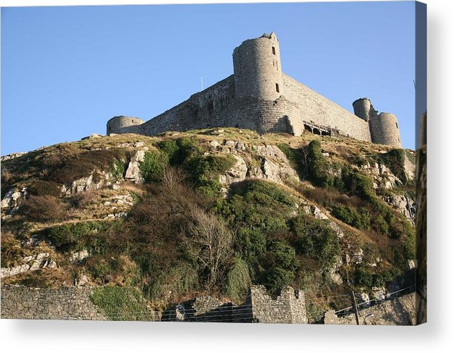 Castles Acrylic Print featuring the photograph Harlech Castle by Christopher Rowlands