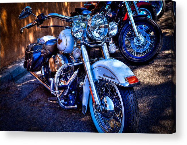 Classic Cycle Acrylic Print featuring the photograph Harley Davidson - Heritage Softail by David Patterson