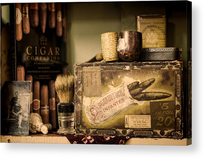 Cigar Acrylic Print featuring the photograph Have A Cigar by Heather Applegate
