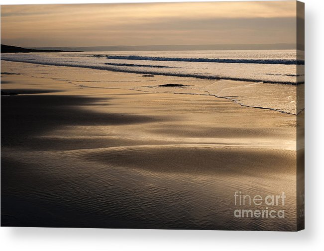 Anne Acrylic Print featuring the photograph Hazy Croyde by Anne Gilbert
