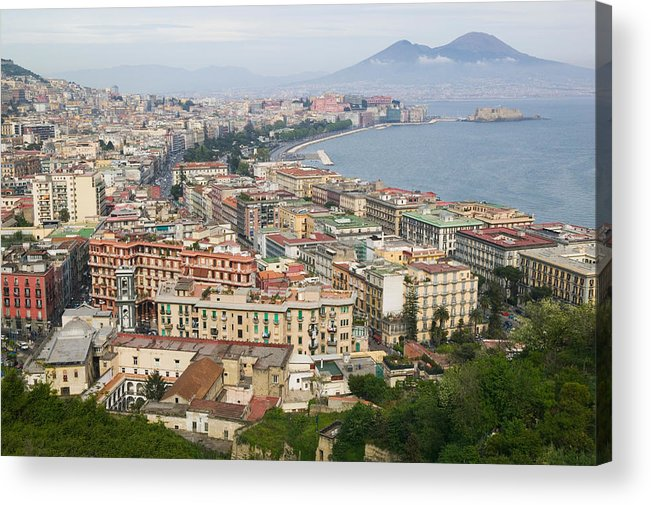 Photography Acrylic Print featuring the photograph High Angle View Of A City, Naples by Panoramic Images