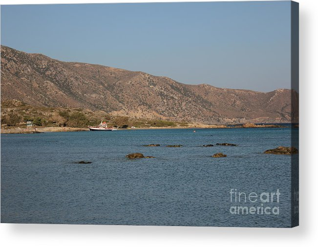 Mediterranean Acrylic Print featuring the photograph Boat In The Mediterranean by Sk
