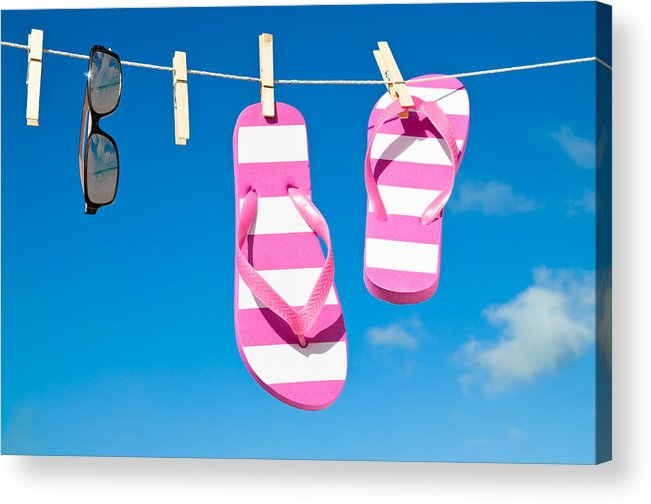 Washing Acrylic Print featuring the photograph Holiday Washing Line by Amanda Elwell