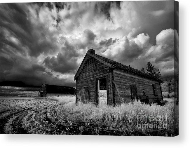 Prairie Acrylic Print featuring the photograph Homestead Under Stormy Sky by Dan Jurak