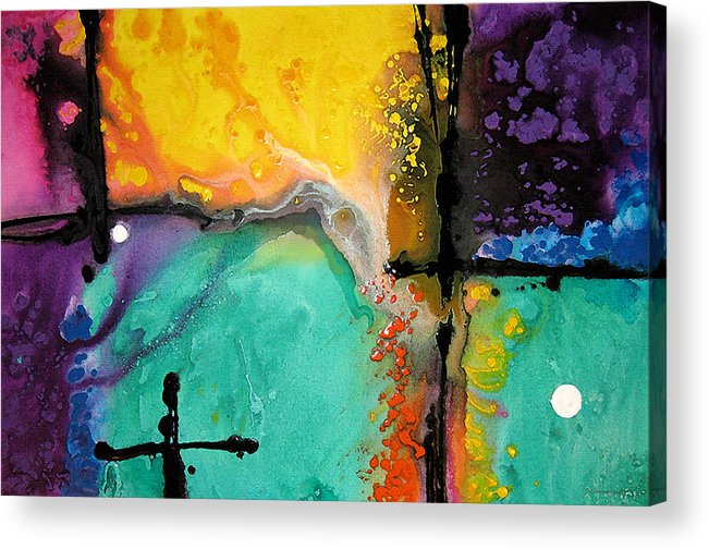 Colorful Acrylic Print featuring the painting Hope - Colorful Abstract Art By Sharon Cummings by Sharon Cummings