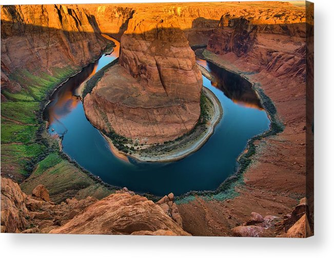 Horseshoe Bend Acrylic Print featuring the photograph Horseshoe Bend In The Morning by Silvio Ligutti