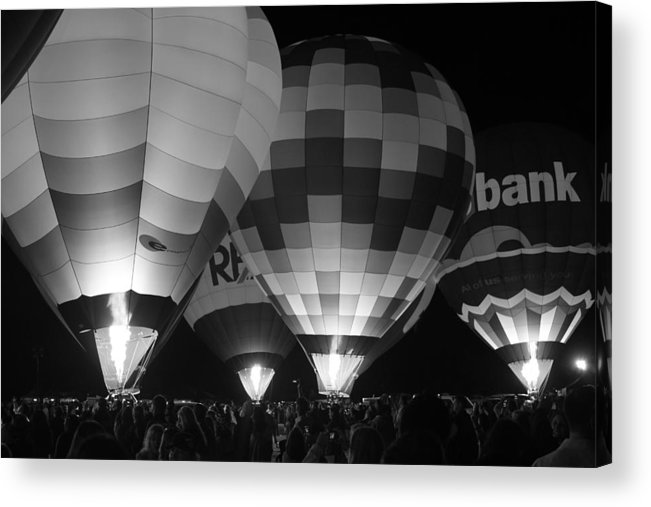Fly Acrylic Print featuring the photograph Hot Air Balloons by Robert Aycock