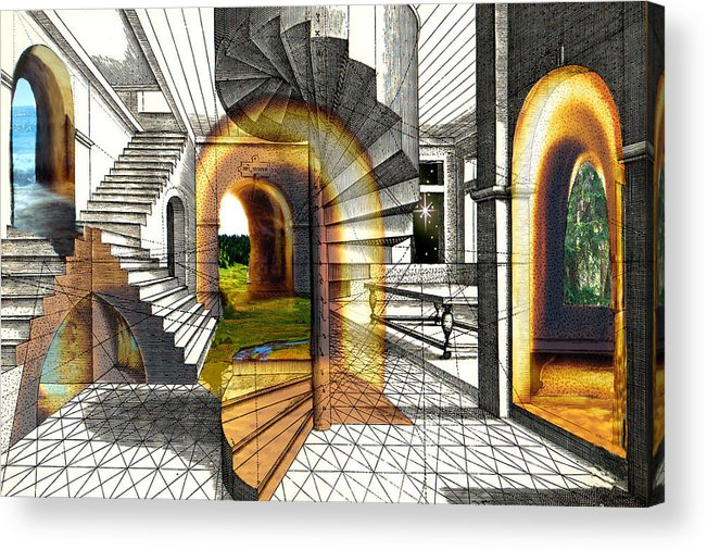 House Acrylic Print featuring the digital art House Of Dreams by Lisa Yount