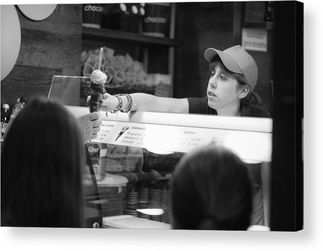 Ice Acrylic Print featuring the photograph Ice Cream Seller by Pablo Lopez