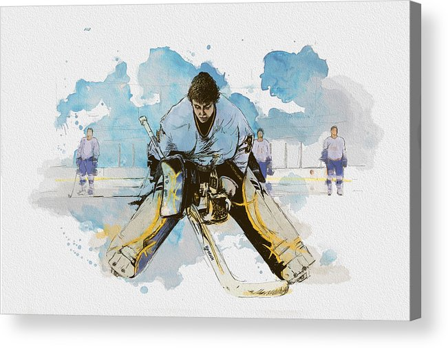 Sports Acrylic Print featuring the painting Ice Hockey by Corporate Art Task Force