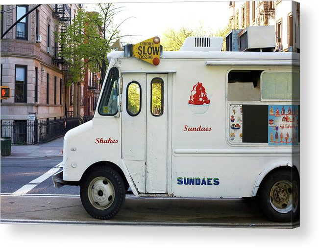 Retail Acrylic Print featuring the photograph Icecream Truck On City Street by Jason Todd
