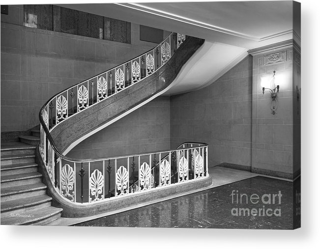 Bloomington Acrylic Print featuring the photograph Illinois State University Williams Hall Stairway by University Icons