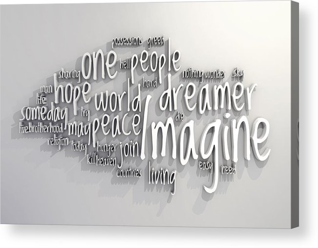 Imagine Acrylic Print featuring the digital art Imagine by Scott Norris