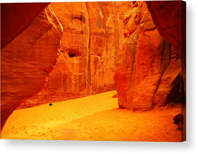 Orange Acrylic Print featuring the photograph In Orange Chasms by Jeff Swan