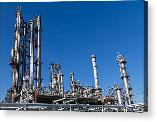Architecture Acrylic Print featuring the photograph Industrial Site by Stephan Stockinger