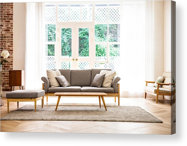 Interior Shot Of Modern Living Room Acrylic Print By Plan Shoot