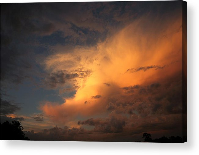 Clouds Acrylic Print featuring the photograph Intimidation At Work by Brian Spratley