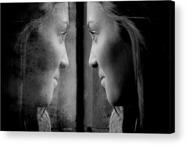 Self Reflection Acrylic Print featuring the photograph Introspection by Lisa Knechtel