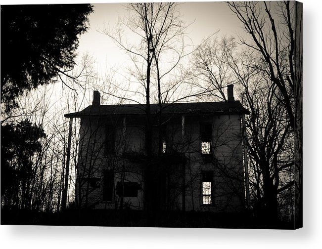 Abandoned Acrylic Print featuring the photograph Is Anybody Home by Off The Beaten Path Photography - Andrew Alexander
