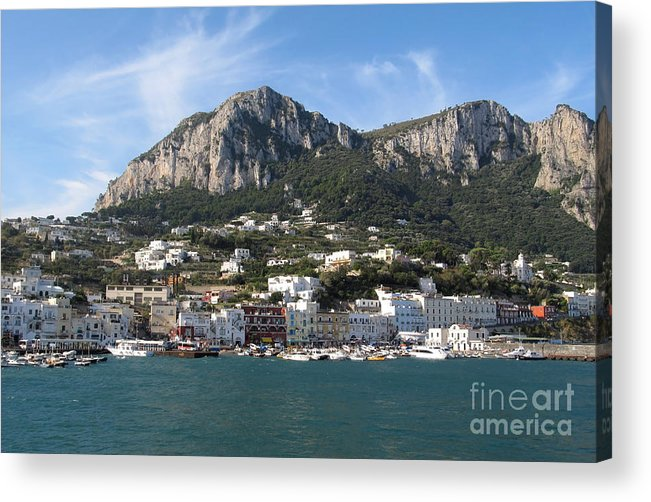 Yachts Acrylic Print featuring the photograph Island Capri Panoramic Sea View by Kiril Stanchev