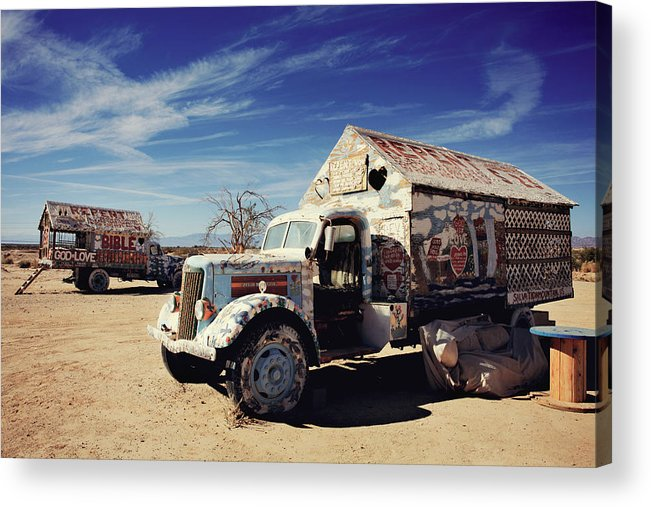 Salvation Mountain Acrylic Print featuring the photograph It's All About Love by Laurie Search