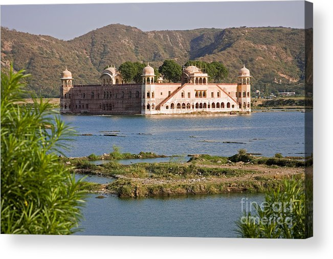 Architecture Acrylic Print featuring the photograph Jah Mahal Palace by David Davis