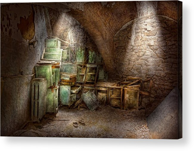 Jail Acrylic Print featuring the photograph Jail - Eastern State Penitentiary - Cabinet Members by Mike Savad