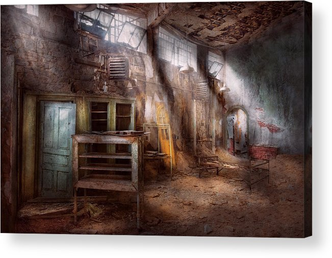 Jail Acrylic Print featuring the photograph Jail - Eastern State Penitentiary - Sick Bay by Mike Savad