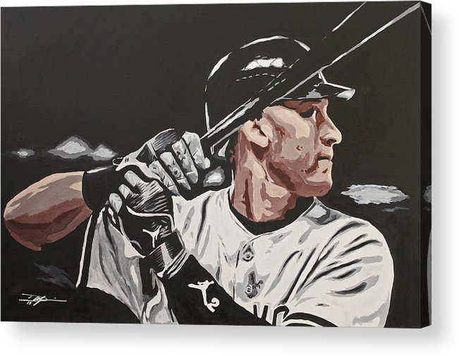 Jeter Acrylic Print featuring the drawing Jeter by Don Medina