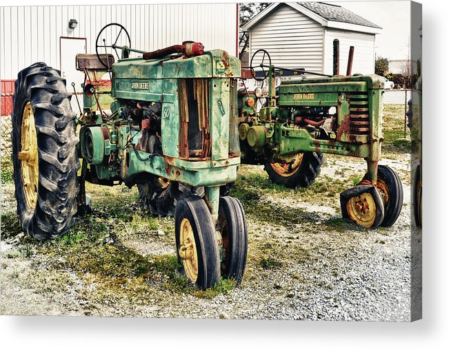 John Deere Acrylic Print featuring the photograph John Deere Past by Kelly Reber