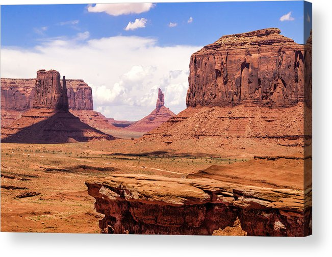 Landscape Acrylic Print featuring the photograph John Ford Point - Monument Valley - Arizona by Jon Berghoff
