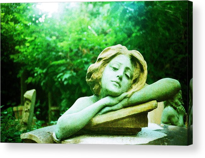 Lomo Acrylic Print featuring the photograph Junkyard Angel by Sara Snyder