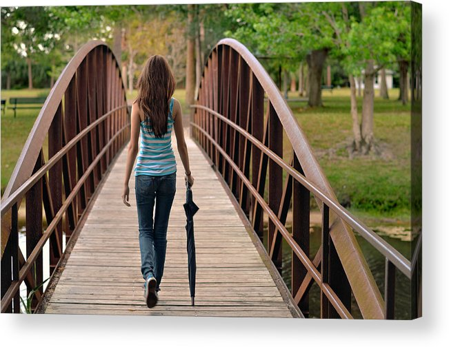 Walk Acrylic Print featuring the photograph Just Walk Away Renee by Laura Fasulo