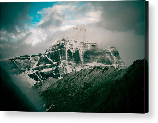 Tibet Acrylic Print featuring the photograph Kailas Mountain Tibet Home Of The Lord Shiva by Raimond Klavins