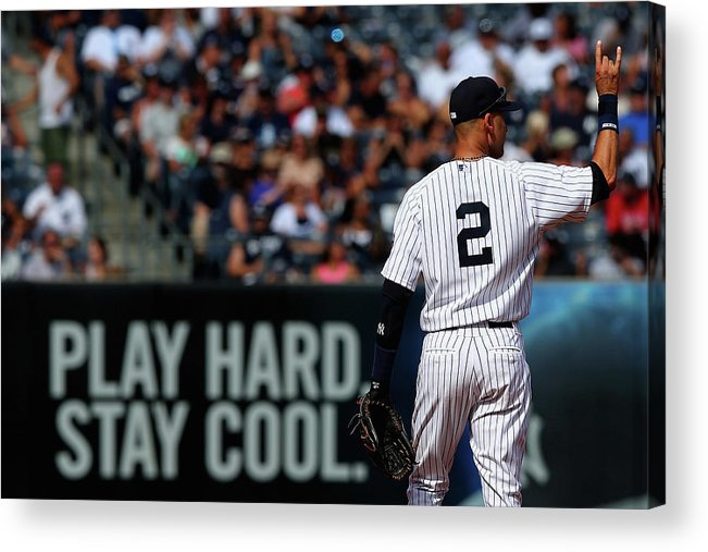 People Acrylic Print featuring the photograph Kansas City Royals V New York Yankees by Elsa