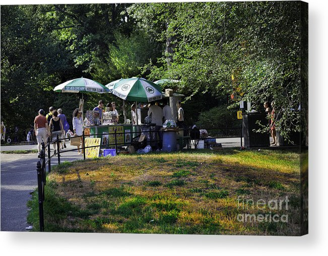 Central Park Acrylic Print featuring the photograph Keep Park Clean by Madeline Ellis