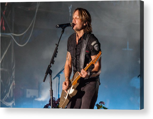 Keith Urban Acrylic Print featuring the photograph Keith Urban 3 by Mike Burgquist