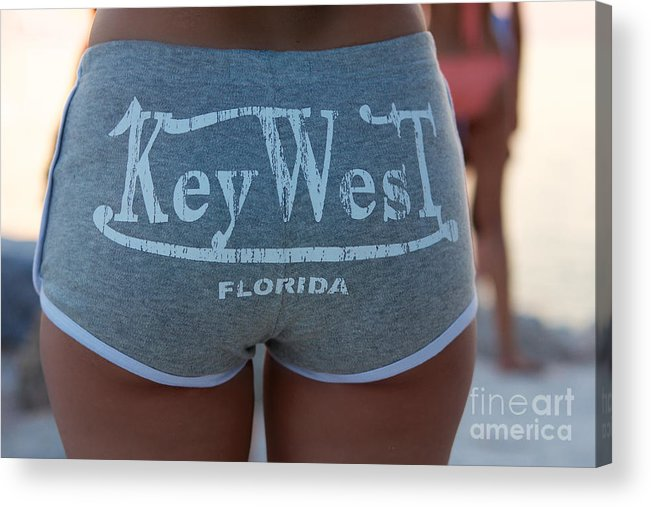 Afternoon Acrylic Print featuring the photograph Key West Hot Pants At The Beach by Jannis Werner