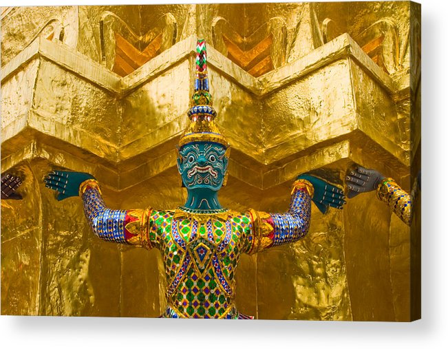 3scape Acrylic Print featuring the photograph Khon Guard by Adam Romanowicz