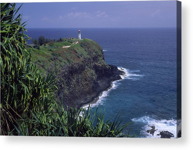 Kilauea Lighthouse Acrylic Print featuring the photograph Kilauea Lighthouse II by Morris McClung