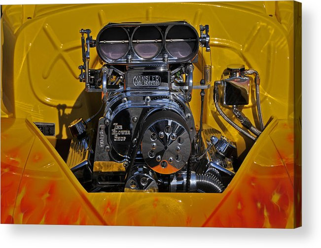Engine Acrylic Print featuring the photograph Kinsler Fuel Injection by Mike Martin