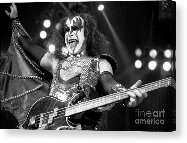 Gene Simmons Acrylic Print featuring the photograph Kiss-gene-gp10 by Timothy Bischoff