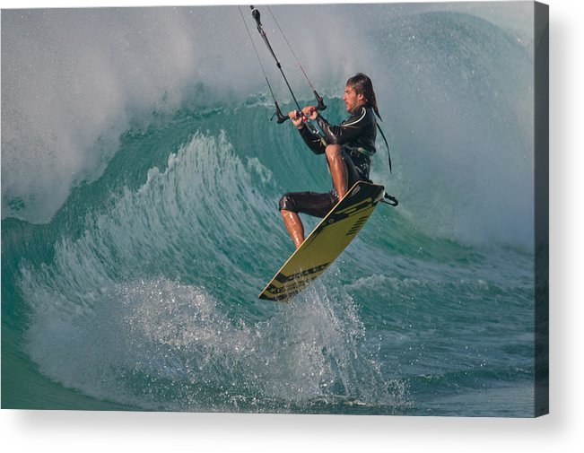 Andalucia Acrylic Print featuring the photograph Kiting Los Lances by AJM Photography