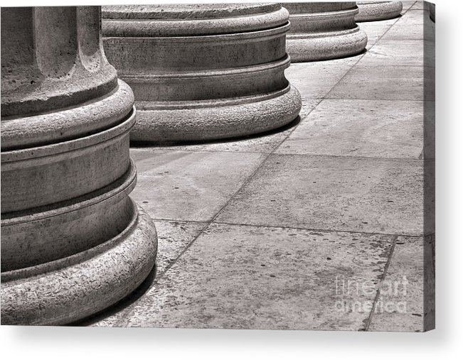 Columns Acrylic Print featuring the photograph Krepis And Stylobates by Olivier Le Queinec