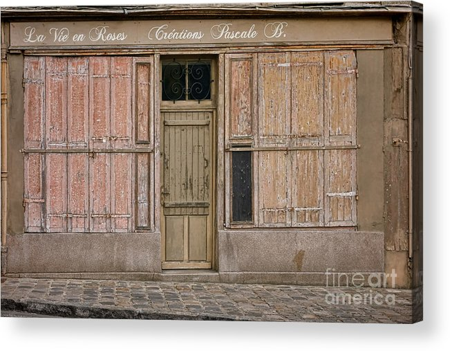 Old Acrylic Print featuring the photograph La Vie En Roses Is Closed by Olivier Le Queinec