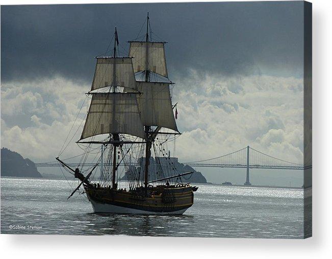 Tall Ship Acrylic Print featuring the photograph Lady Washington by Sabine Stetson