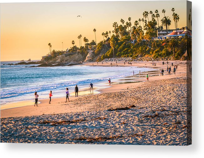 Laguna Beach Acrylic Print featuring the photograph Laguna Beach by Nicole Cops