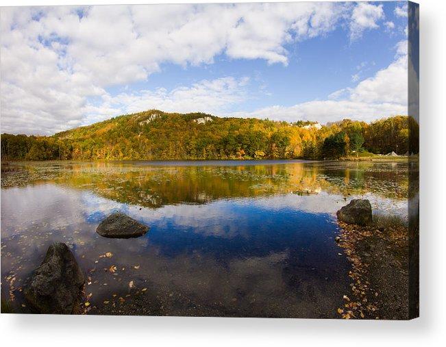 Lantern Hill Pond Acrylic Print featuring the photograph Lantern Hill Pond - North Stonington Ct by Kirkodd Photography Of New England