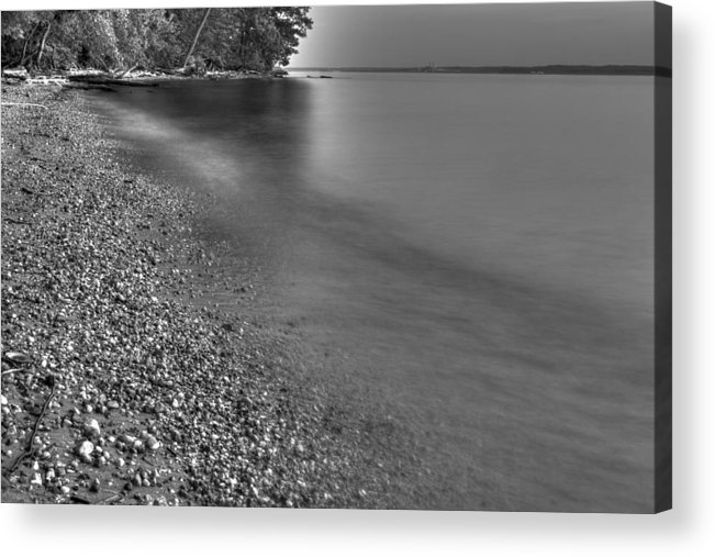 Indian Head Acrylic Print featuring the photograph Lapping Waters On The Shore by Leah Palmer