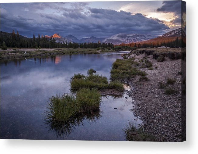 River Acrylic Print featuring the photograph Last Light On Lembert Dome by Cat Connor